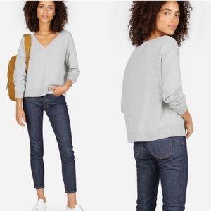 Everlane v neck boxy sweater